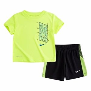 Nike dri-fit neon active shorts set 2137